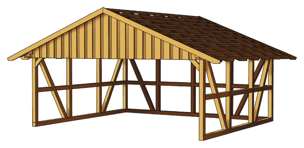 holz carport skanholz schwarzwald fachwerk doppelcarport vom gartenhaus fachh ndler. Black Bedroom Furniture Sets. Home Design Ideas