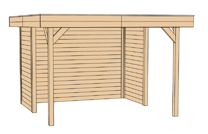 pavillon holz gartenlaube 4 eck gartenpavillon flachdach. Black Bedroom Furniture Sets. Home Design Ideas
