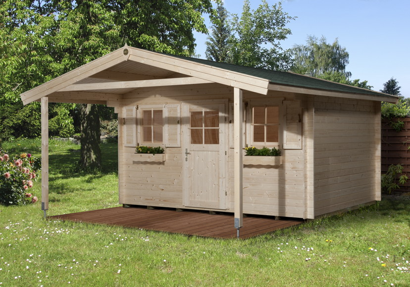 gartenhaus weka konstanz 45mm gartenhaus holz haus. Black Bedroom Furniture Sets. Home Design Ideas