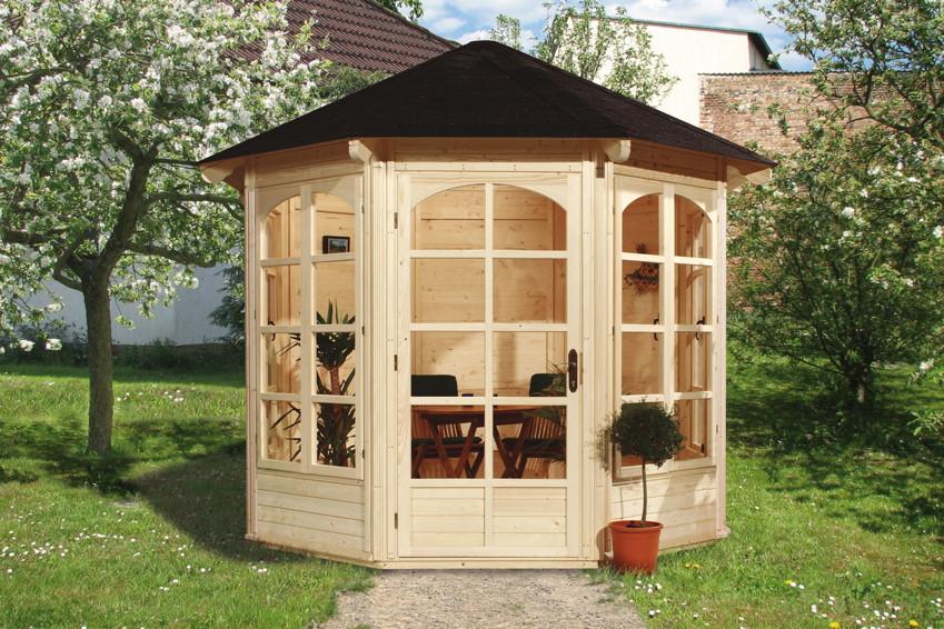 Holz pavillon fur den garten - Fenster fur gartenhaus ...
