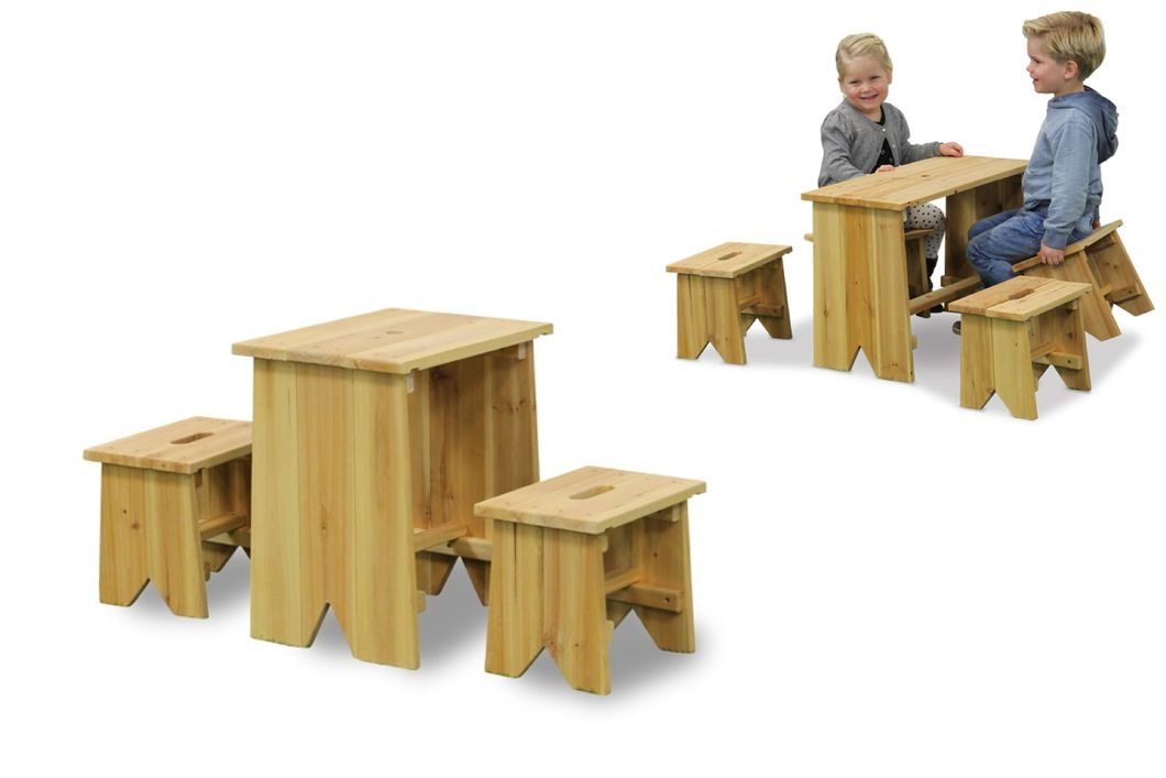 kinder holz gartenbank picknick set gr e xl holz sitzgruppe kindergarnitur kaufen im holz. Black Bedroom Furniture Sets. Home Design Ideas
