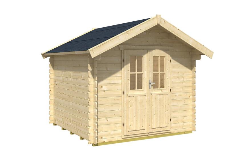 gartenhaus skanholz palma blockbohlen holzhaus. Black Bedroom Furniture Sets. Home Design Ideas