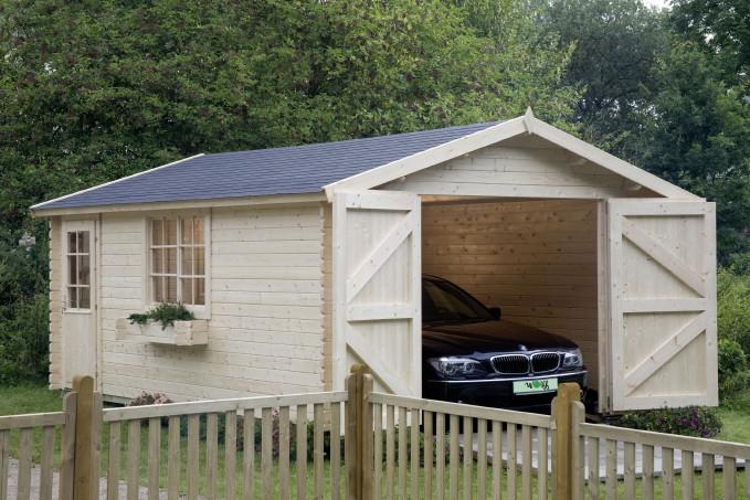 garage wolff 44 holzgarage kaufen im holz garten baumarkt online shop. Black Bedroom Furniture Sets. Home Design Ideas