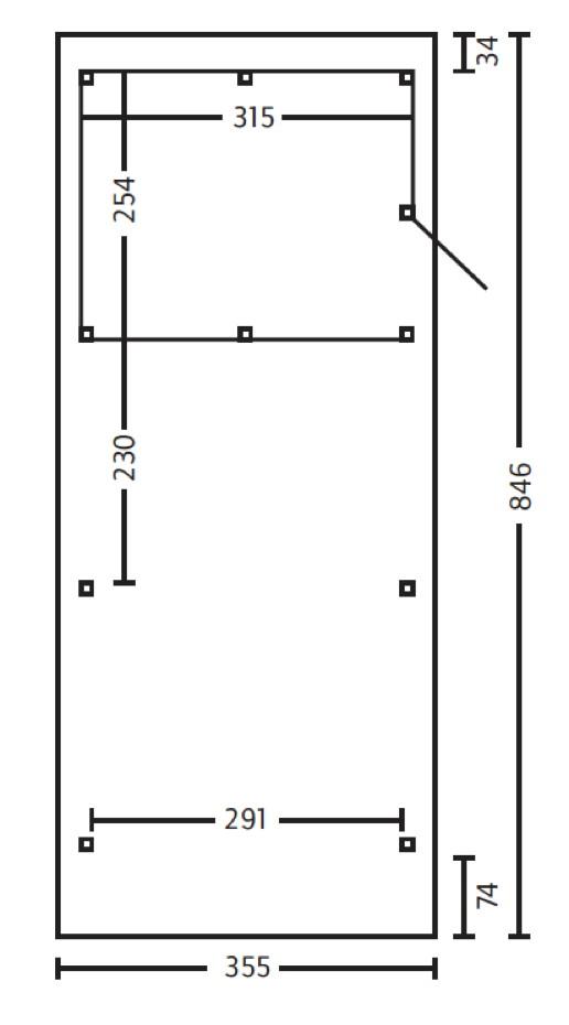 holz carport skanholz spessart flachdach einzelcarport. Black Bedroom Furniture Sets. Home Design Ideas