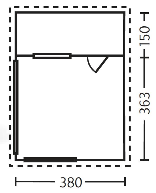 Gartenhaus 24 Qm Selber Bauen Gartenhaus Hersteller 24 De: Gartenhaus SKANHOLZ «Alicante» Terrassenhaus Holzhaus, Mit