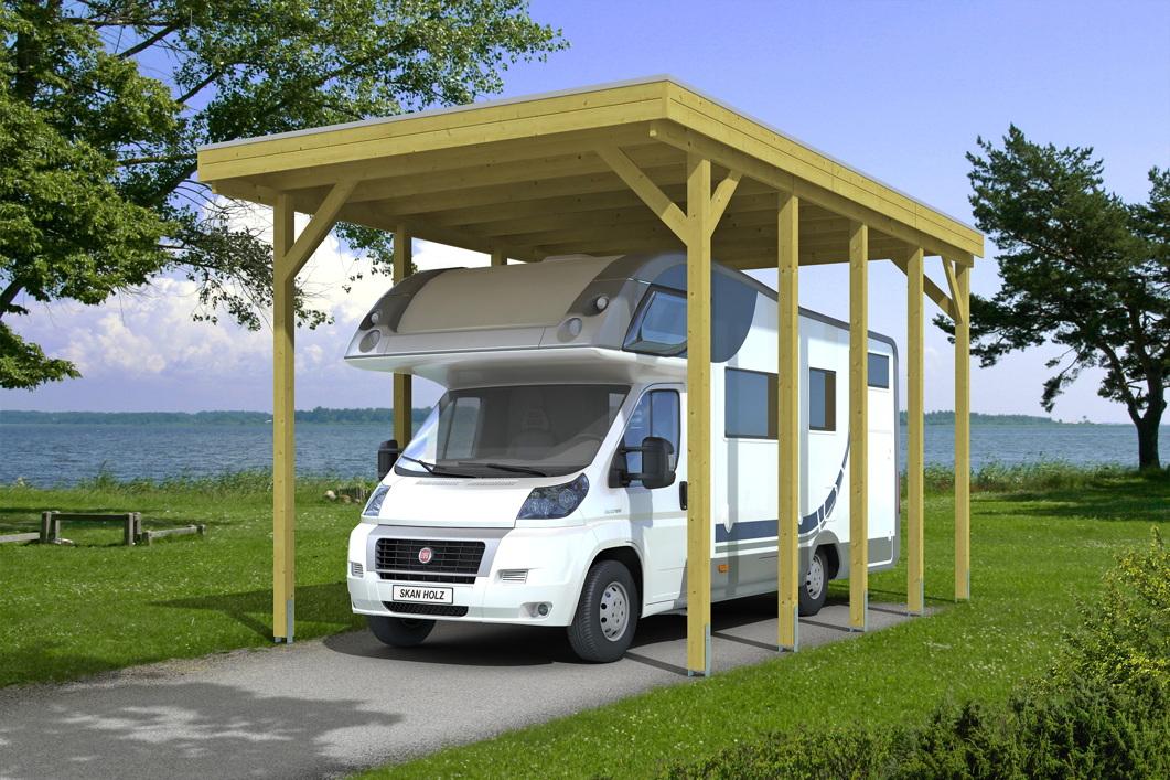 caravan carport bausatz skanholz friesland caravan. Black Bedroom Furniture Sets. Home Design Ideas