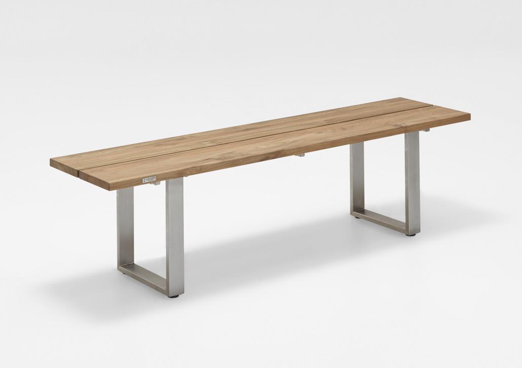 gartenbank niehoff nemo bank 200cm ohne r ckenlehne teak recycled holzbank vom gartenhaus. Black Bedroom Furniture Sets. Home Design Ideas