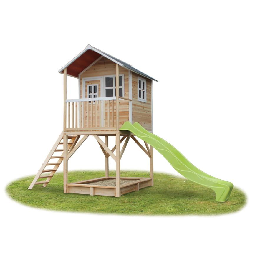 holz kinder spielhaus hohes stelzen kinderspielhaus. Black Bedroom Furniture Sets. Home Design Ideas