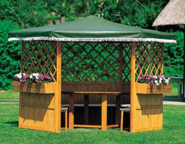 pavillon promadino marburg 6 eck holz pavillon vom. Black Bedroom Furniture Sets. Home Design Ideas