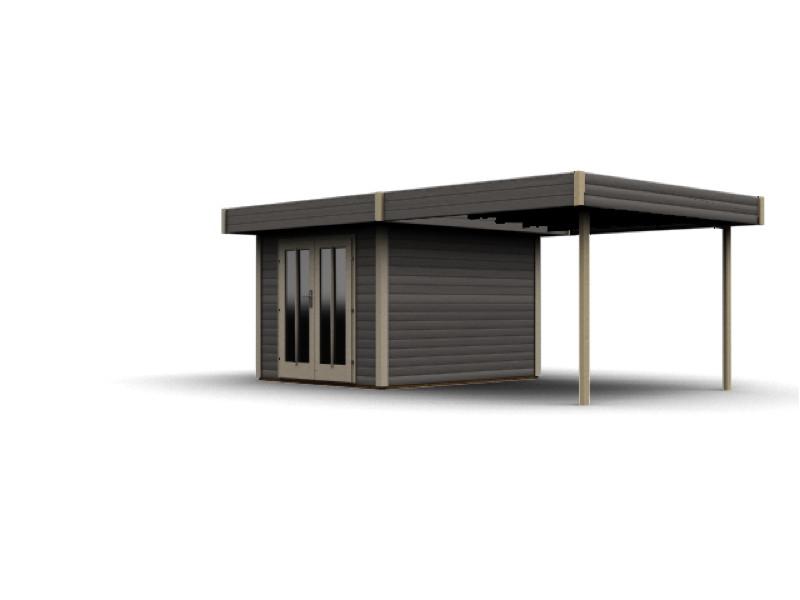 gartenhaus flachdach karibu multi cube holz bausatz terragrau kaufen im holz garten. Black Bedroom Furniture Sets. Home Design Ideas