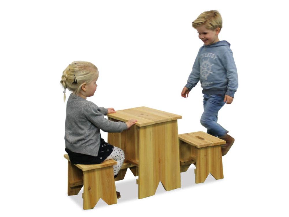 kinder holz gartenbank picknick set gr e l kinder sitzgruppe kinderbank vom gartenhaus. Black Bedroom Furniture Sets. Home Design Ideas
