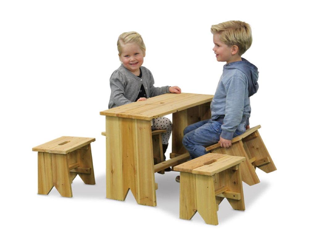 kinder holz gartenbank picknick set gr e xl holz sitzgruppe kindergarnitur vom gartenhaus. Black Bedroom Furniture Sets. Home Design Ideas