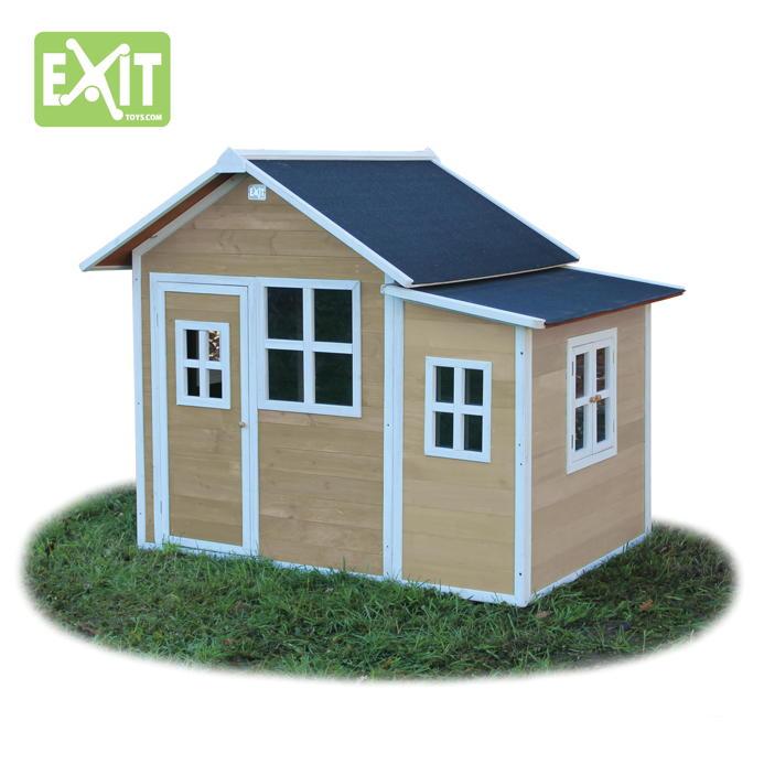 holz kinder spielhaus gro es holz spielhaus rot gebeizt vom gartenhaus fachh ndler. Black Bedroom Furniture Sets. Home Design Ideas