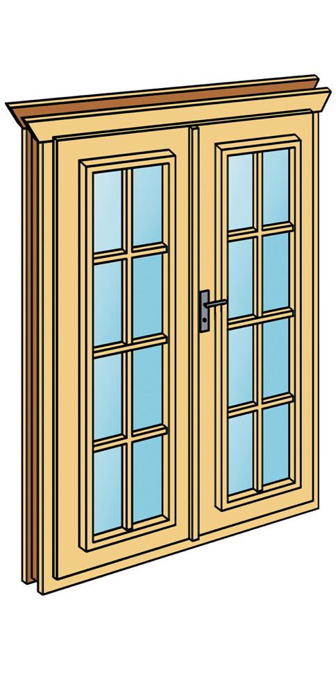 einbau doppelt r skanholz f r 45 mm wandst rke mit sprossen panorama fenster vom gartenhaus. Black Bedroom Furniture Sets. Home Design Ideas