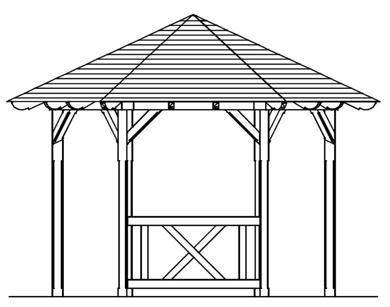 skanholz br stung pavillon lyon andreaskreuz halbhohes. Black Bedroom Furniture Sets. Home Design Ideas