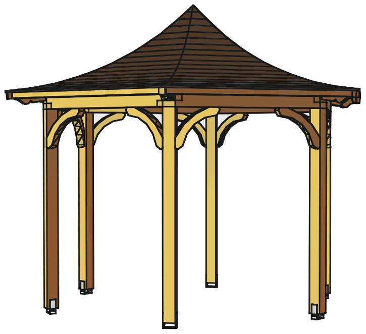pavillon skanholz versailles 6 eck pavillion vom gartenhaus fachh ndler. Black Bedroom Furniture Sets. Home Design Ideas