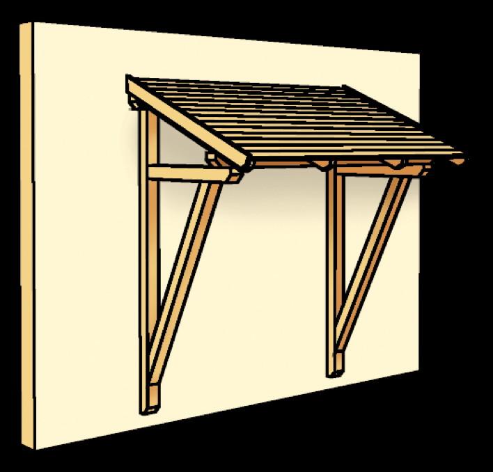holz vordach skanholz paderborn f r haust ren pultdach vom gartenhaus fachh ndler. Black Bedroom Furniture Sets. Home Design Ideas