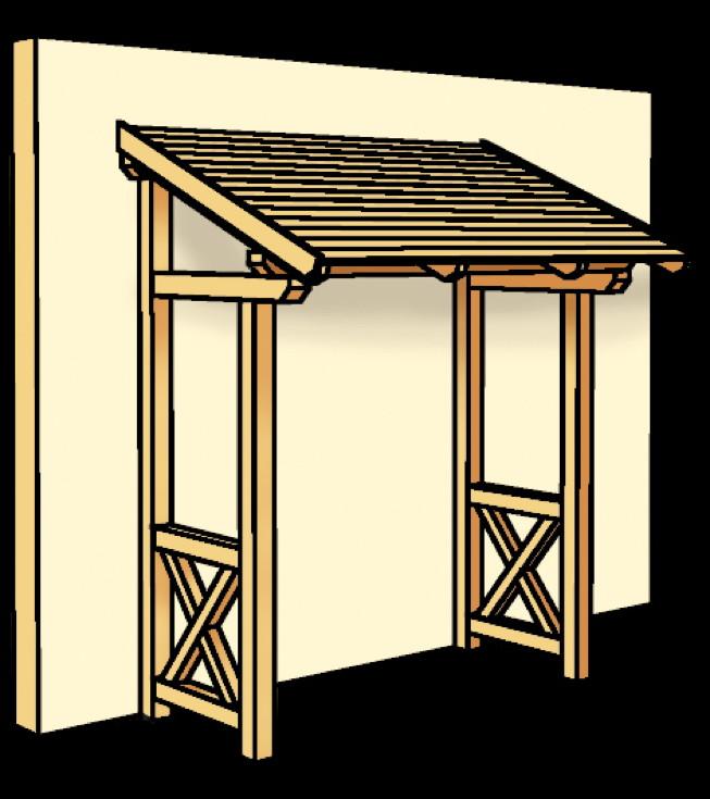 holz vordach skanholz paderborn f r haust ren pultdach. Black Bedroom Furniture Sets. Home Design Ideas