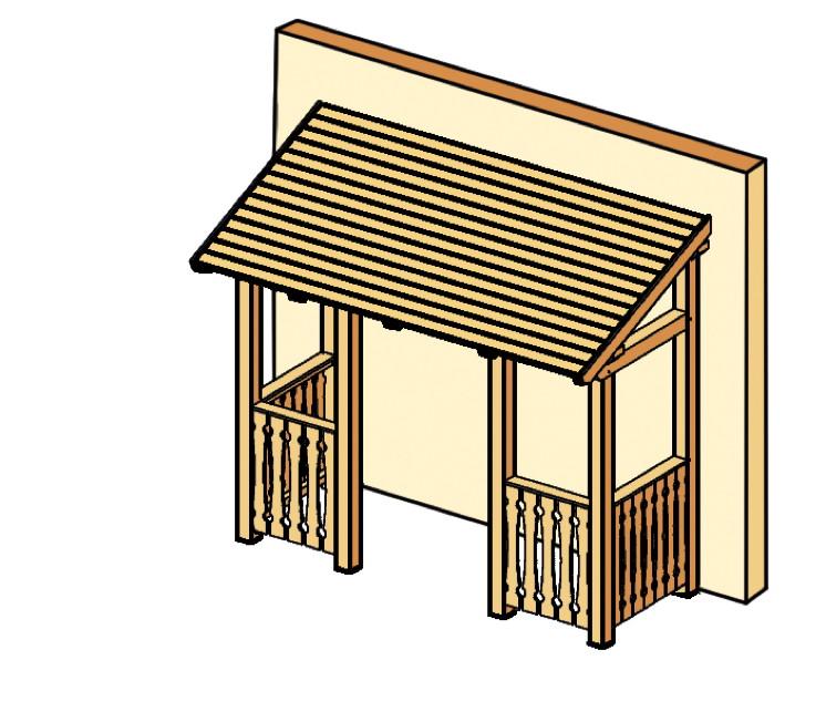holz vordach skanholz paderborn f r haust ren pultdach kaufen im holz garten. Black Bedroom Furniture Sets. Home Design Ideas