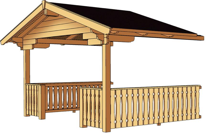 vordach mit br stung skanholz f r arosa blockbohlen gartenhaus kaufen im holz garten. Black Bedroom Furniture Sets. Home Design Ideas