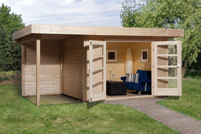 gartenhaus flachdach weka designhaus 126 gr e 3 mit. Black Bedroom Furniture Sets. Home Design Ideas
