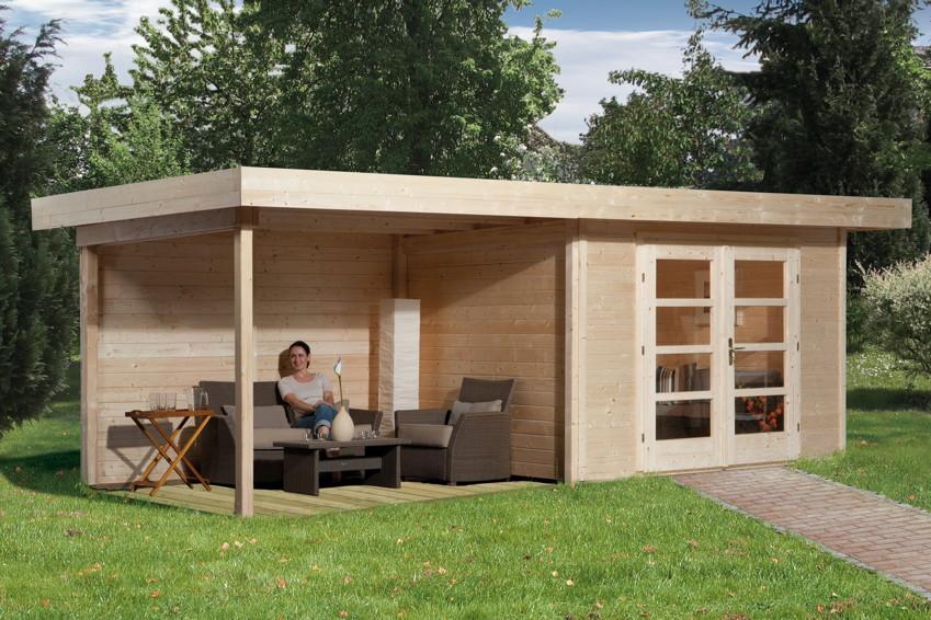 gartenhaus holz bausatz flachdach weka designhaus 126 gr. Black Bedroom Furniture Sets. Home Design Ideas