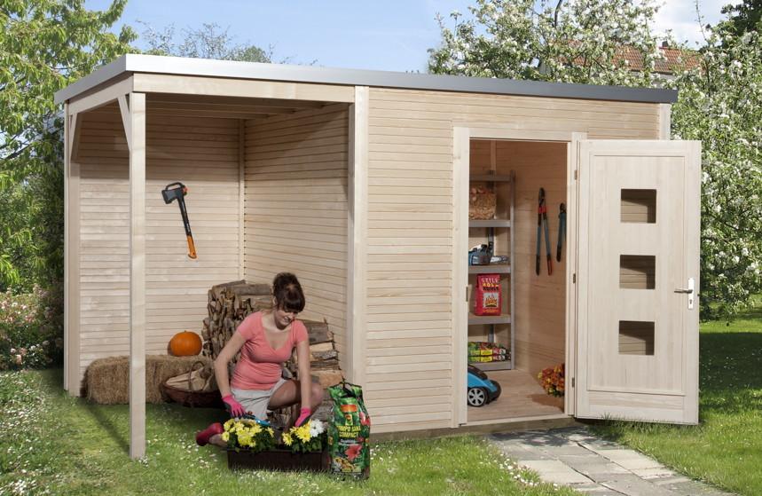 gartenhaus flachdach designhaus «wekaline 413»   kaufen im holz, Moderne
