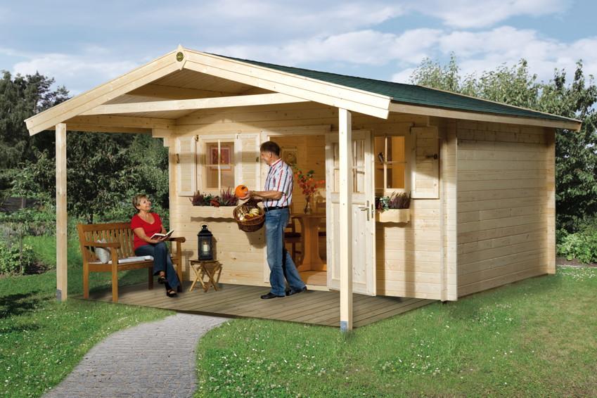 gartenhaus weka konstanz 45mm gartenhaus holz haus. Black Bedroom Furniture Sets. Home Design Ideas