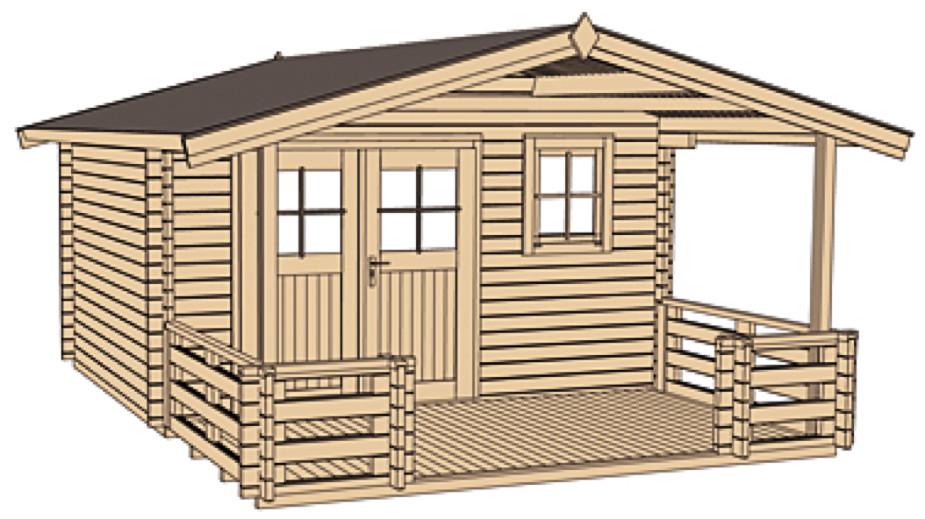 Gartenhaus WEKA Kempten 45 mm Holz Haus Bausatz Kaufen