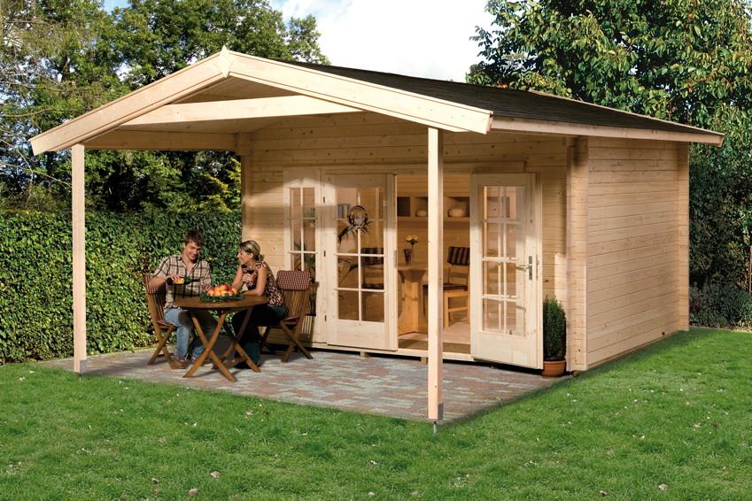 gartenhaus weka weekendhaus 138 holz haus bausatz. Black Bedroom Furniture Sets. Home Design Ideas