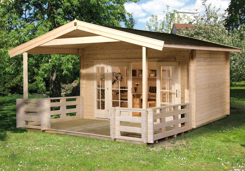 Vordach Terrasse : Gartenhaus WEKA Weekendhaus 138 Holz Haus Bausatz