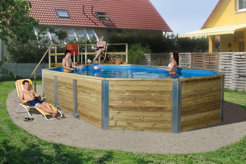 holzpool weka korfu schwimmbecken aus holz swimmingpool poolbausatz kaufen im holz. Black Bedroom Furniture Sets. Home Design Ideas